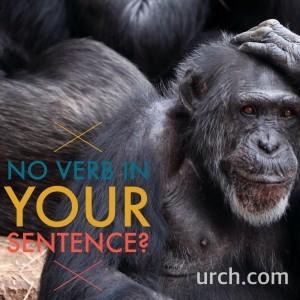 Gorilla pondering the existence of nominal sentences